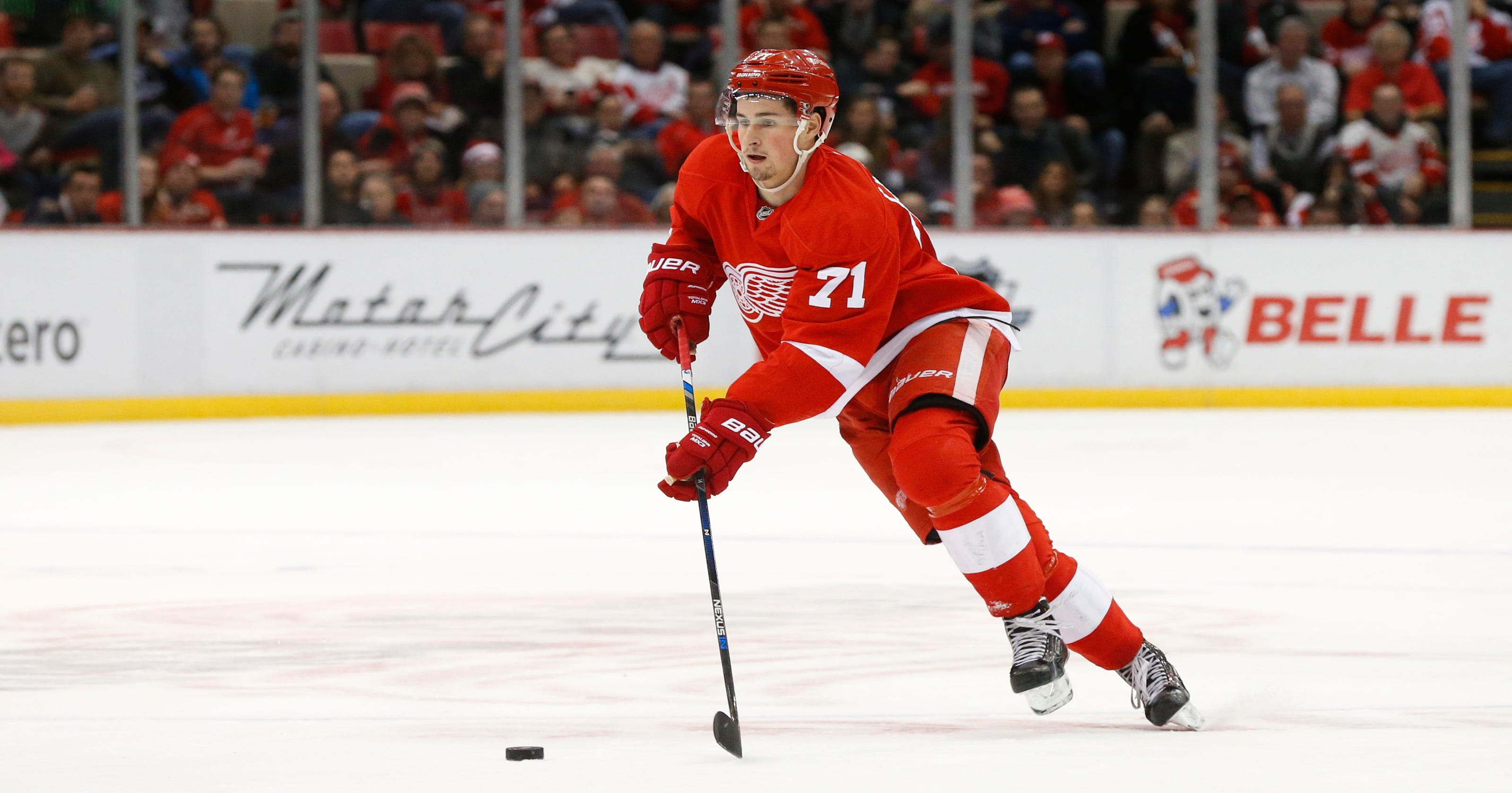 ad83eb481f4 Dylan Larkin  bringing it  for Detroit Red Wings in rookie year