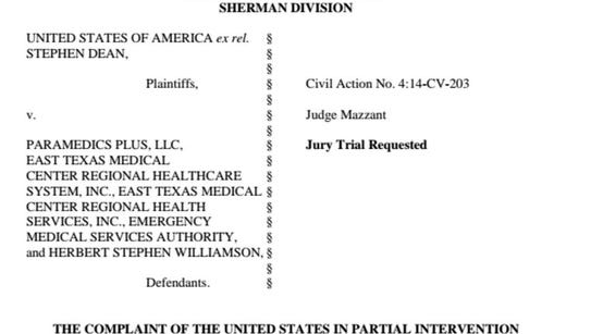 A screen capture of the top of the federal complaint