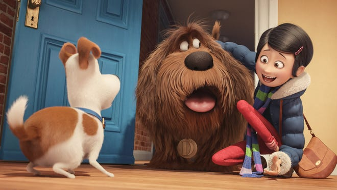 """Max's (the pooch on the left) perfect life is altered when his owner brings a shelter dog home. But that's only the prelude to a day in """"The Secret Life of Pets."""""""