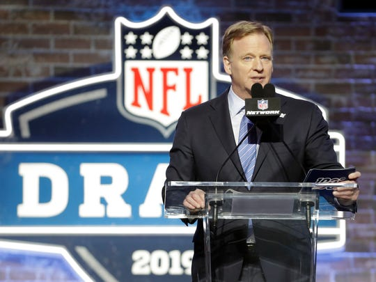 NFL commissioner Roger Goodell will announce picks for the 2020 NFL Draft from the basement of his home in Bronxville.