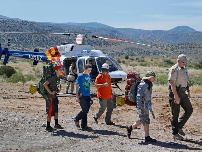 Boy scouts rescued