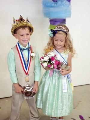 Luke Peace and Addison Beach are last year's winners of the Little Mister and Miss Beauty Pageant.