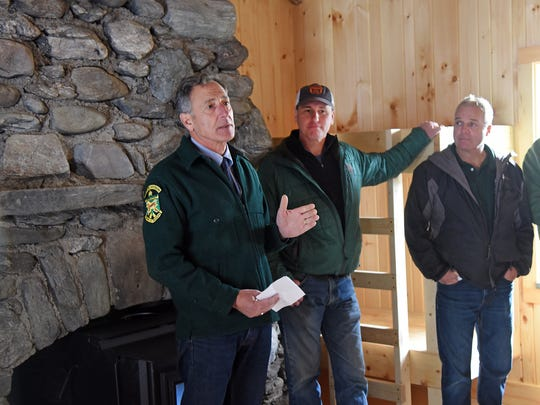Gov. Peter Shumlin, from left, Michael Snyder, commissioner