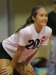 St. John's Knights' Hallie Wigsten was named the IIAAG middle school girls volleyball league MVP.