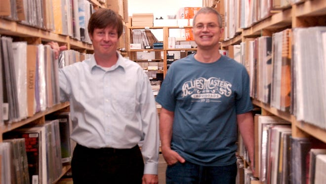 COO Marc Sheforgen with CEO and founder Chad Kassem at Acoustic Sounds in Salina, Kan.