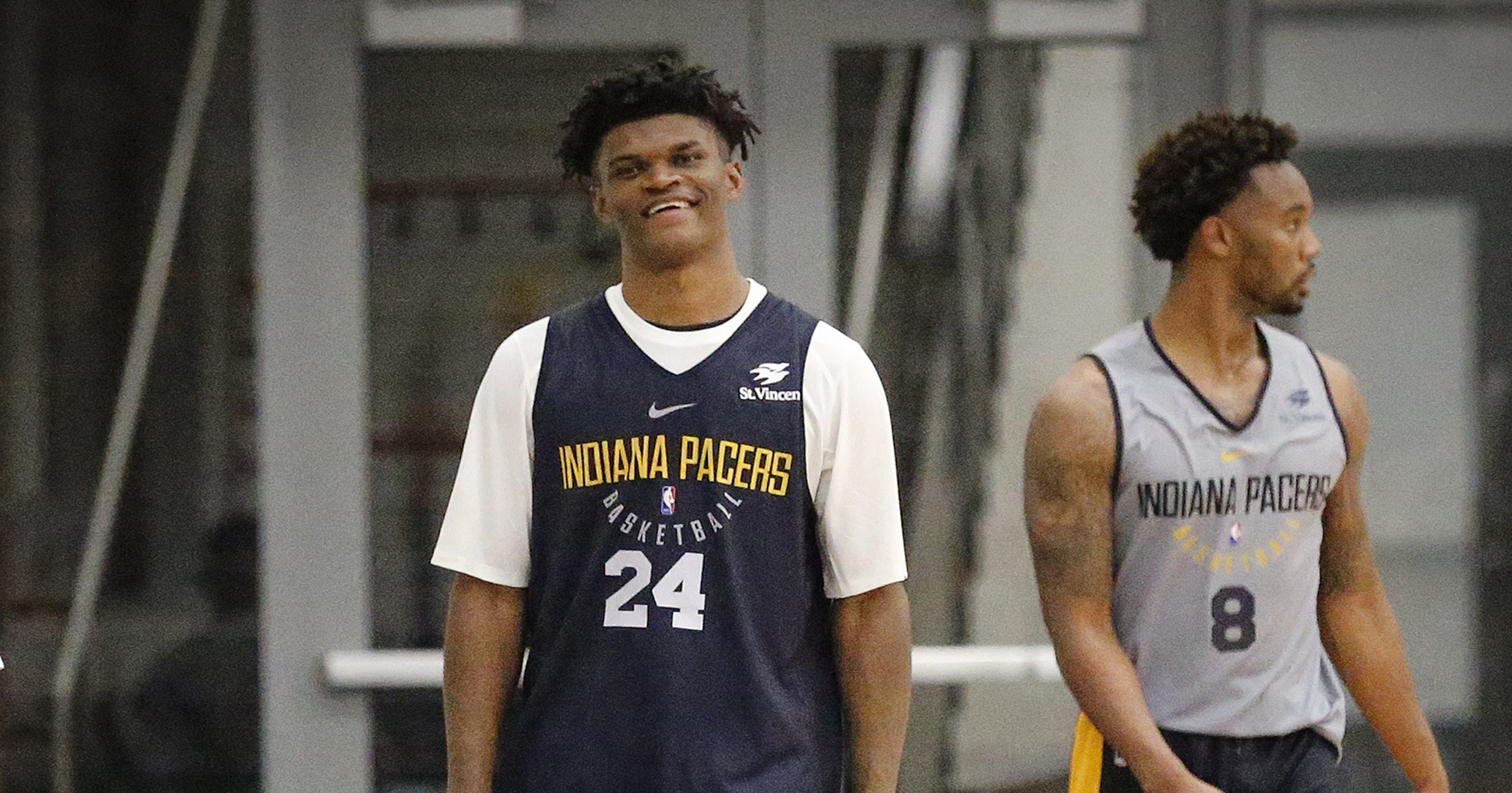 best website 6ffc3 d86fb Pacers' Alize Johnson banks on versatility, rebounding