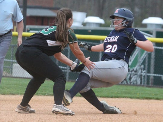 Yorktown's Brianna Buck tags out Ketcham's Helena Van