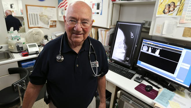 Dr. Richard Vermillion of Boone County Family Medicine in Ogden, Iowa, has been the small town's caretaker since 1960. His 5,000 active patients outnumber the town's population of 2,000.
