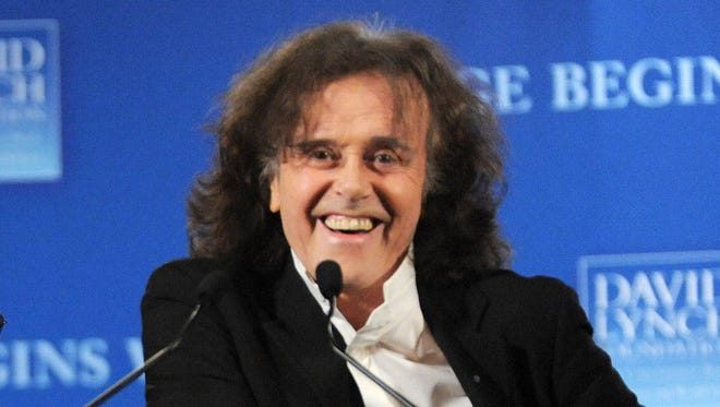 "Donovan promotes ""Change Begins Within"" benefit concert for the David Lynch Foundation in New York."