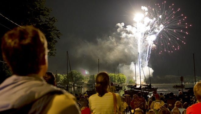 Neenah is one of the cities that annually shoots off fireworks over the Fox River.