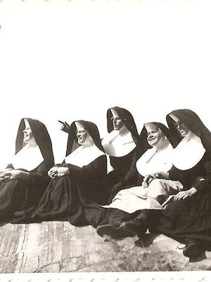 Members of the Sisters of Mercy enjoying Lake Champlain in 1954.