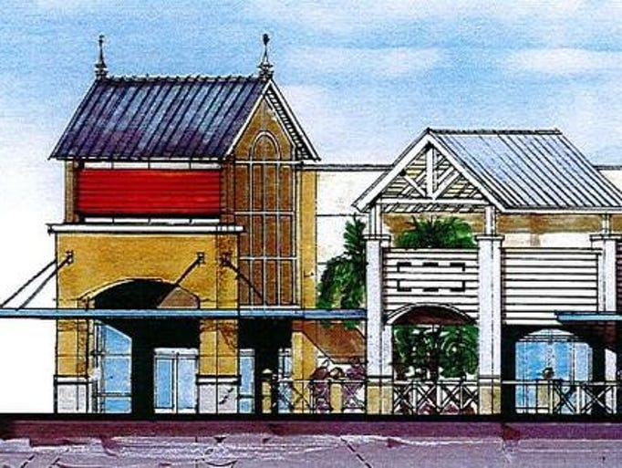 Artist concept for restaurant with outdoor seating at Titus Landing planned to begin construction this year in Titusville.