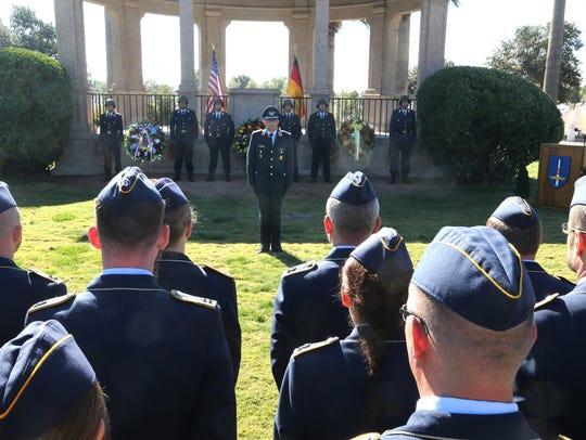 German Air Force Lt. Col. Martin Herter stood before