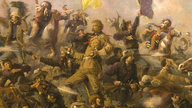 Edgar Samuel Paxson's 1899 painting of the Battle of Little Big Horn, which took six years to complete, is a popular depiction of Custer's last stand.
