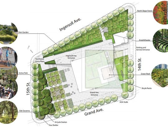 This illustration shows some of the landscaping plans