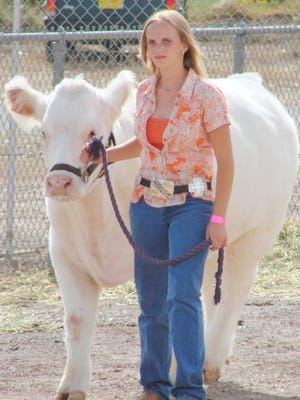 The Grant County Fair is filled with Grant County 4-H youths showing their steers.