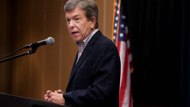 U.S. Sen. Roy Blunt  speaks at the Greene County Republican Party Lincoln Day.