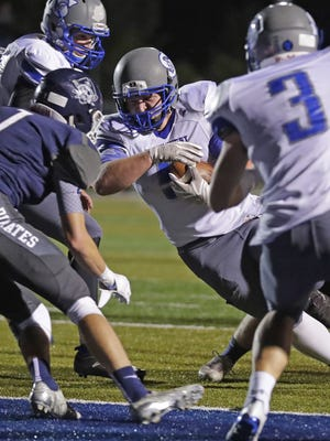 Green Bay Southwest running back Joshua Komis (5) was one of three players to rush for more than 1,000 yards in the Fox River Classic Conference.