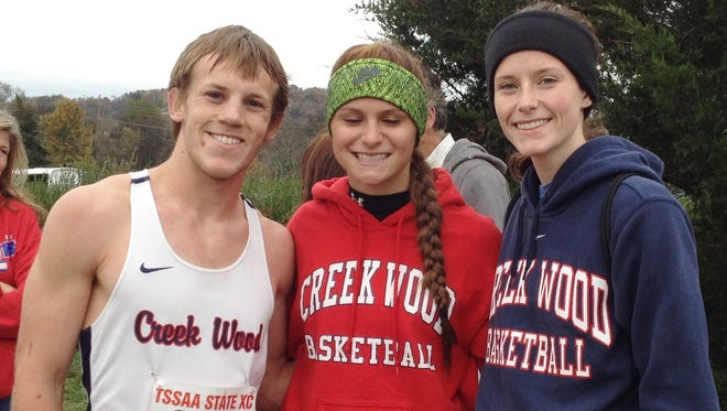 Creek Wood High cross country runners - Caleb Allen, Riley Kilian and Caroline Edmondson each made return trips to the TSSAA A-AA state meet.