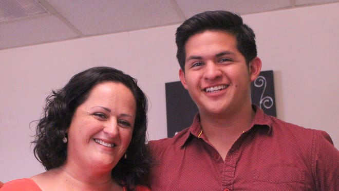 Luis Burke and his mother Gabriela have been raising money for his trip to New York. Burke will be traveling to New York to participate in the MACY's Thanksgiving Day Parade alongside 250 high school students from across the nation.