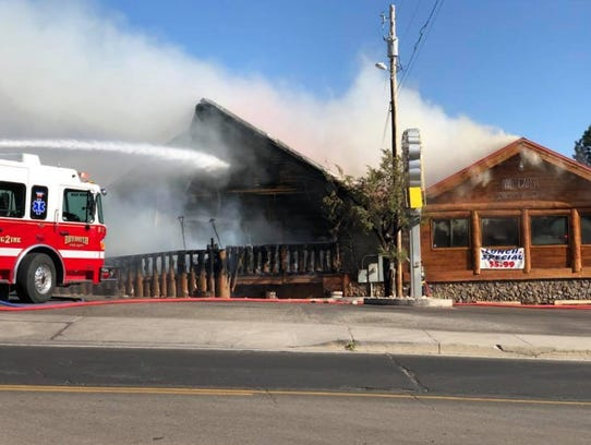 Fire engulfed the interior of both the main kitchen and ordering area, and a new dining addition.