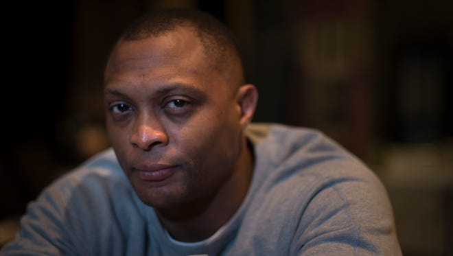 "Former Titans star running back turned actor Eddie George is returning to the stage in Nashville for the first time since appearing on Broadway last year. He's starring in the play ""A Raisin In the Sun,"" which opens Saturday at TPAC. Thursday, March 23, 2017 in Franklin, Tenn."