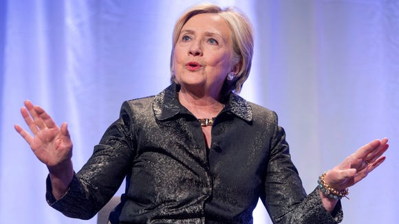Former secretary of State Hillary Clinton promotes