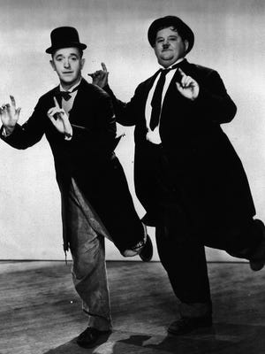 Stan Laurel (left) and Oliver Hardy were one of the movies' classic comedy teams from the 1920s into the 1940s.