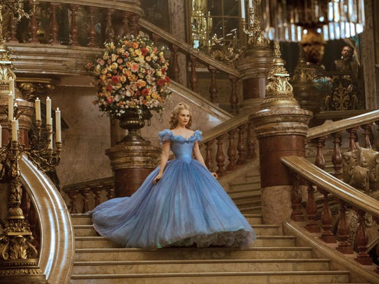 """Lily James was radiant as good-hearted """"Cinderella."""""""