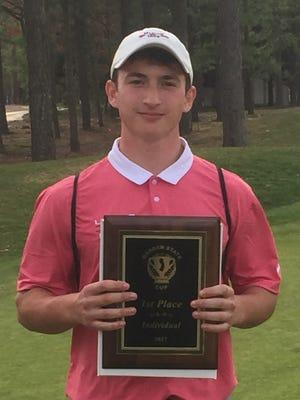 A junior on the Lenape High School golf team, Doug Ergood has already won two tournaments this season.