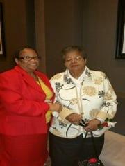 Photo:  Glenda Sinclair and Mr. Elizabeth Ann Eckford,