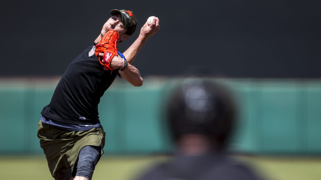 Tim Lincecum talked about how he felt after throwing 41 pitches in front of about 50 people, including team scouts and media, at Scottsdale Stadium on Friday.