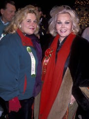 Francesca Hilton (left) and  Zsa Zsa Gabor in 1994.