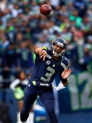 Russell Wilson's 109.6 passer rating in the best postseason mark in NFL history.