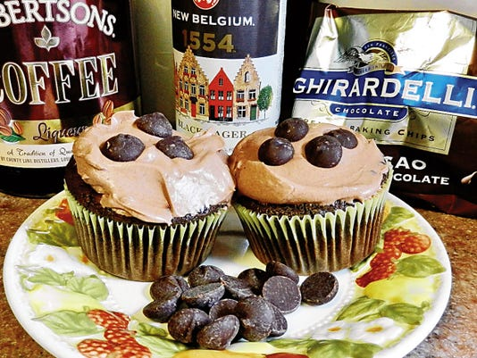 The Happy Baker's chocolate lager cupcakes.