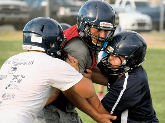 The Deming Wildcats linemen hold the key to success for Deming High football. This year's team will rely heavily on the offensive and defensive lines. The offensive line must protect Wildcats quarterbacks and create running lanes for a litter of Wildcats backs. The defensive line carries a tradition of the bend-but-don't break attitude. Deming opens its season at Tucson Flowing Wells on Aug. 28 and has its home opener against Carlsbad on Sept. 4.