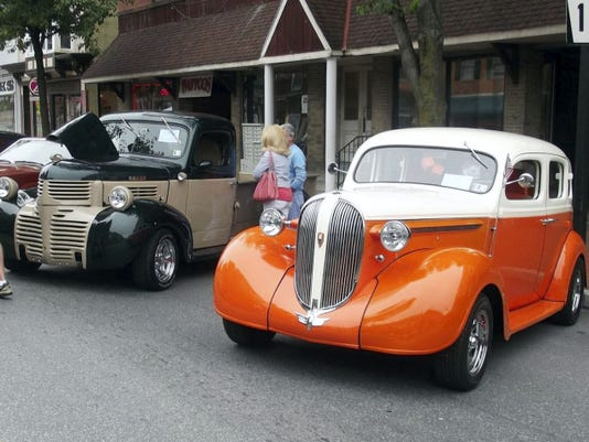 The swing dance troupe Tri-State Jitterbugs will park its 1946 Dodge Truck and 1938 Plymouth Deluxe, pictured above, on site Sept. 5 at the Lincoln Highway Jubilee in Caledonia State Park, Fayetteville.