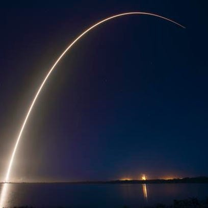 A SpaceX Falcon 9 rocket blasted off from Cape Canaveral