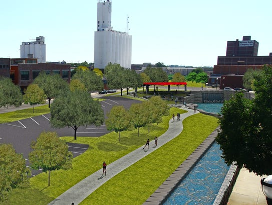 A conceptual rendering illustrating how downtown might