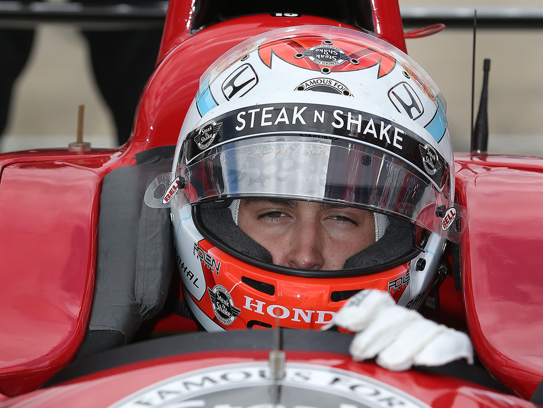 """Graham Rahal said every move in IndyCar pack racing feels like """"life and death."""""""