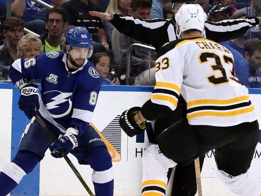 USP NHL: BOSTON BRUINS AT TAMPA BAY LIGHTNING S HKN TBL BOS USA FL