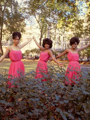 Florence Ballard, Mary Wilson and Diana Ross in London's