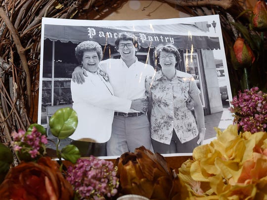 David Baldwin, center, owner of Pancake Pantry, pictured
