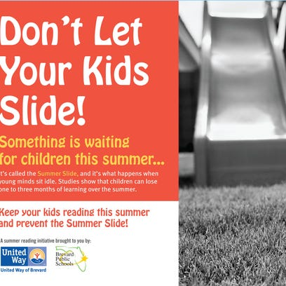 Pamphlet for the United Way of Brevard summer reading