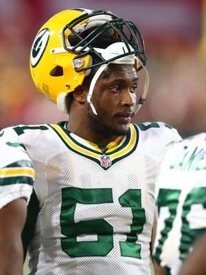 Linebacker Nate Palmer had 10 starts last season for the Packers, who waived him.