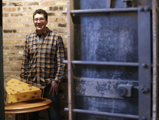 Ralph Bruno, founder of Foamation Inc., stands inside