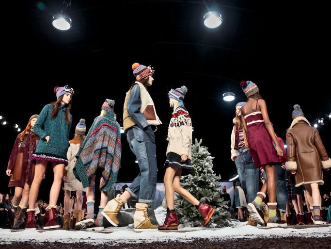 What's that saying? It's like bringing sand to the beach. Well, that's basically what designer Tommy Hilfiger did with his alpine-inspired collection, which he showed in snowy NYC during Fashion Week Monday.