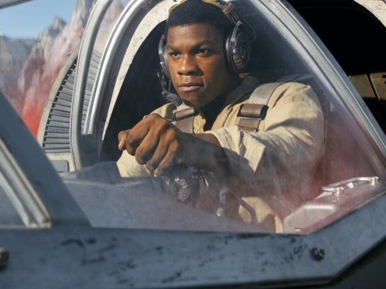 "John Boyega reprises his role as Finn in ""Star Wars:"
