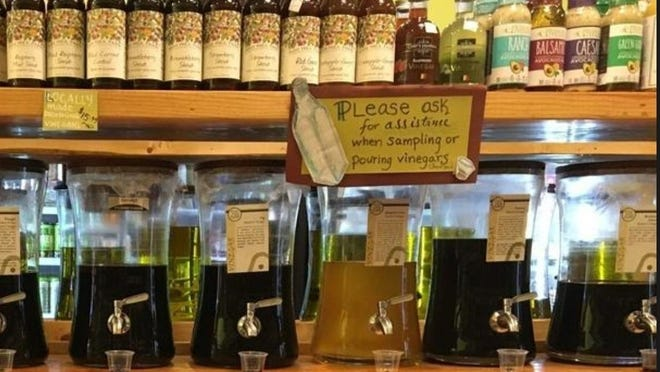 Flavored balsamic vinegars at Art's Specialties in Maynard.