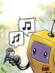 The Robot Love event is all about music, fun and art, like this painting by Bianca Roman Stumpf.